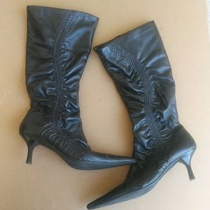 ALDO Mid Calf Leather Pointed Toe Boots